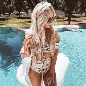 CHELSEA Lace up Floral Bikini